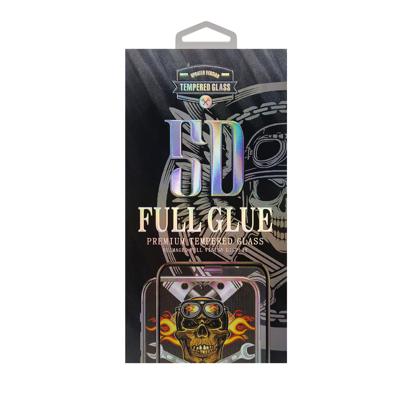 Staklena folija (glass 5D Full Glue) za iPhone 6G/6S black