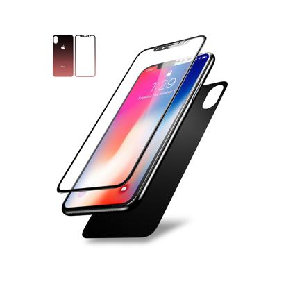 Staklena folija (glass) za Iphone X/XS front and back pink