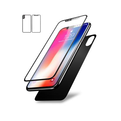 Staklena folija (glass) za Iphone X/XS front and back titanium black