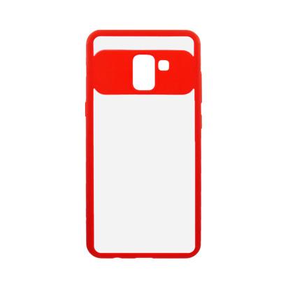 Futrola Auto Focus Mirror za Samsung A730F Galaxy A8 Plus 2018 crvena