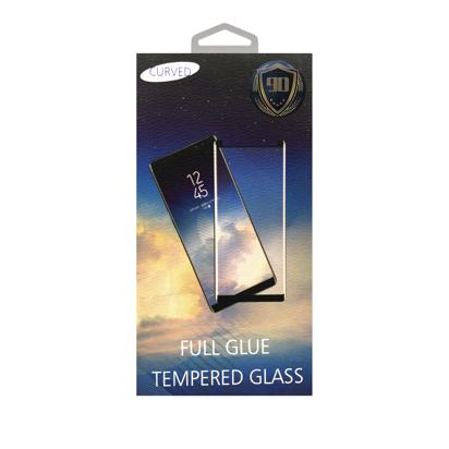 Staklena folija (glass) za Samsung A750F Galaxy A7 2018 glue over the whole Black