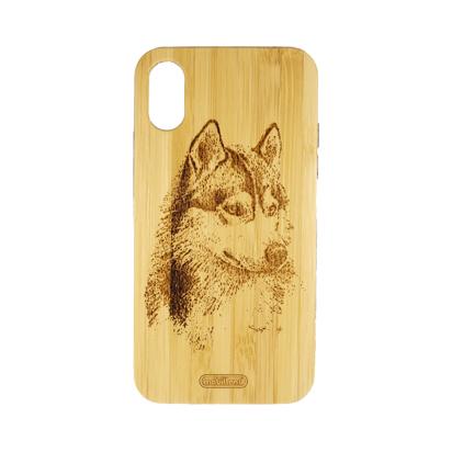 Futrola Wood za iPhone X/XS Wolf