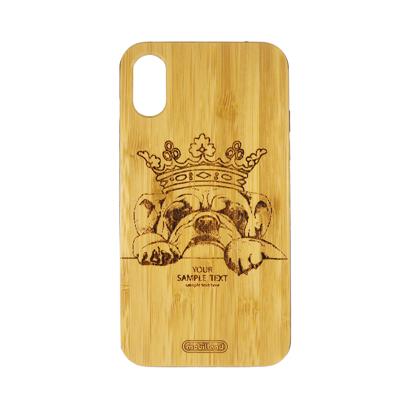 Futrola Wood za iPhone X/XS Dog King