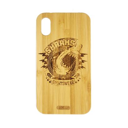 Futrola Wood za iPhone XR Sharks