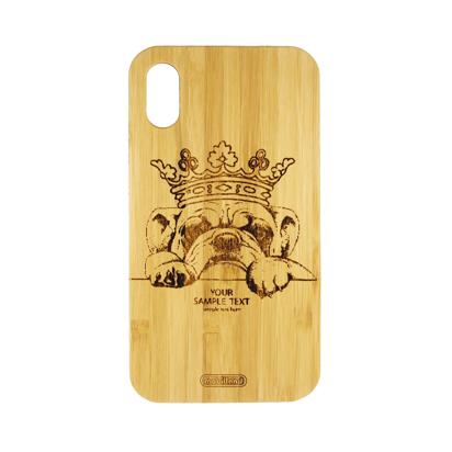 Futrola Wood za iPhone XR Dog King