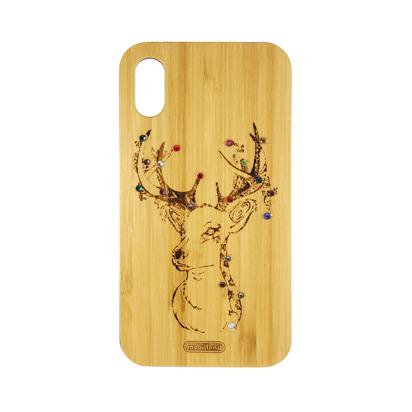 Futrola Wood za iPhone XR Deer
