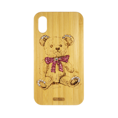 Futrola Wood za iPhone XR Teddy bear