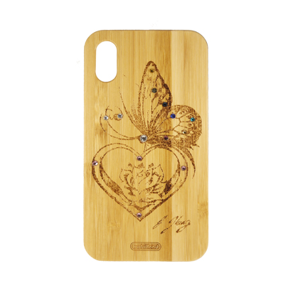 Futrola Wood za iPhone XR Butterfly