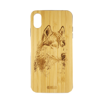 Futrola Wood za iPhone XS Max Wolf