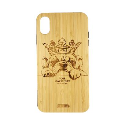 Futrola Wood za iPhone XS Max Dog King