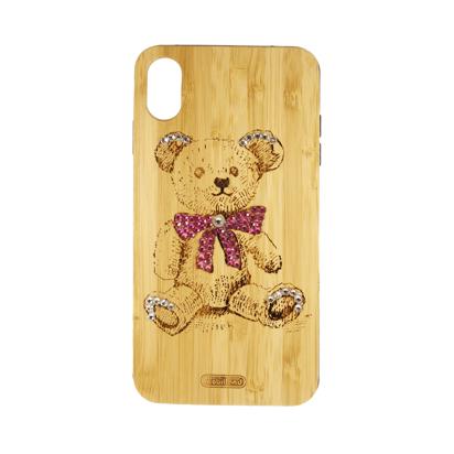 Futrola Wood za iPhone XS Max Teddy bear