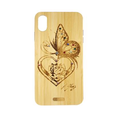 Futrola Wood za iPhone XS Max Butterfly