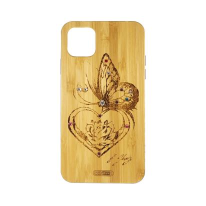 Futrola Wood za iPhone 11 Pro Max / XI 6.5 inch Butterfly