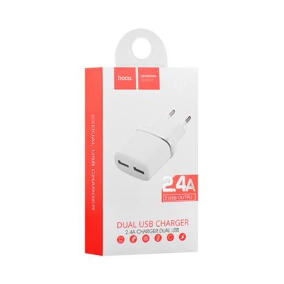 Kucni punjac HOCO C12 Smart dual USB beli