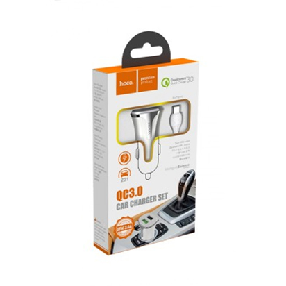 Auto punjac HOCO Z31 Universe dual USB QC3.0+Type-C kabal beli