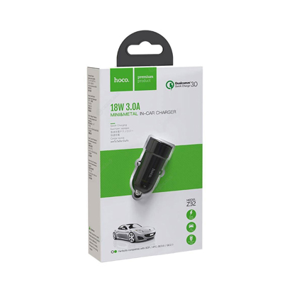 Auto punjac HOCO Z32 Speed Up USB QC3.0 crni