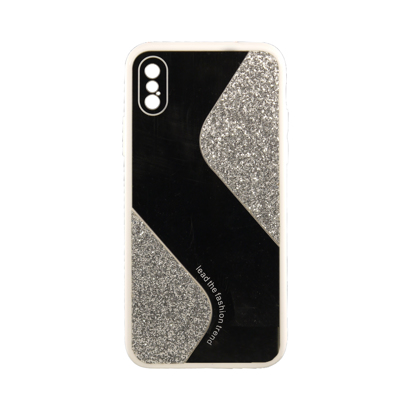 Futrola Mirror Glitter za iPhone X/XS srebrna