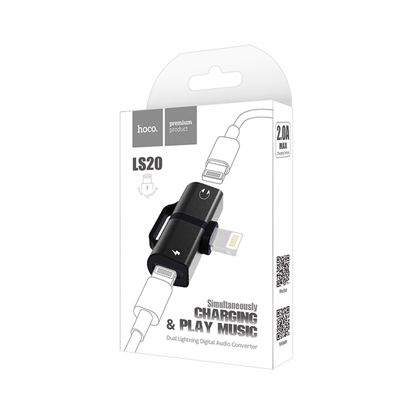 Adapter Hoco LS20 Iphone Lightning digital Audio Konverter crni