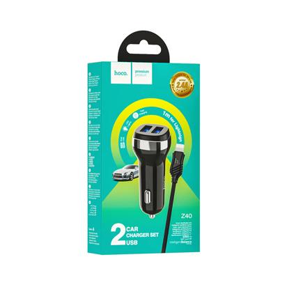 Auto punjac Hoco Z40 Superior Dual Iphone Lightning crni