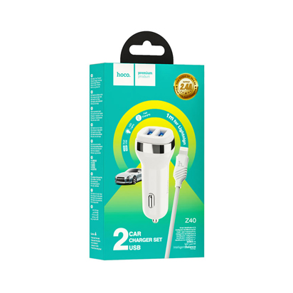 Auto punjac Hoco Z40 Superior Dual Iphone Lightning beli