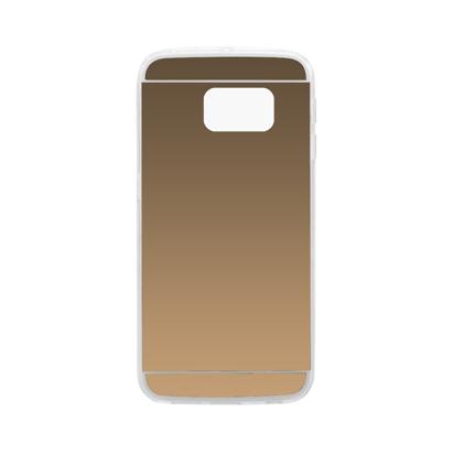 Futrola silikonska Mirror za Samsung G925F Galaxy S6 Edge Zlatna