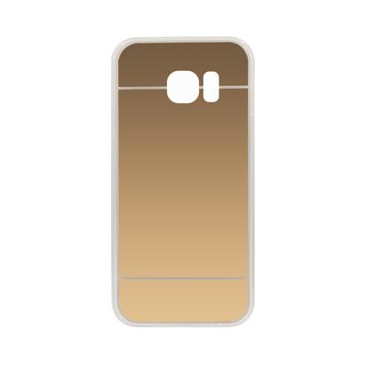 Futrola silikonska Mirror za Samsung G930F Galaxy S7 Zlatna