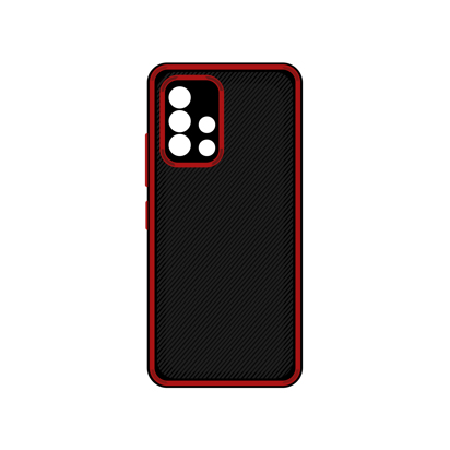 Futrola Silicone Protective za Samsung A515F Galaxy A51 crvena