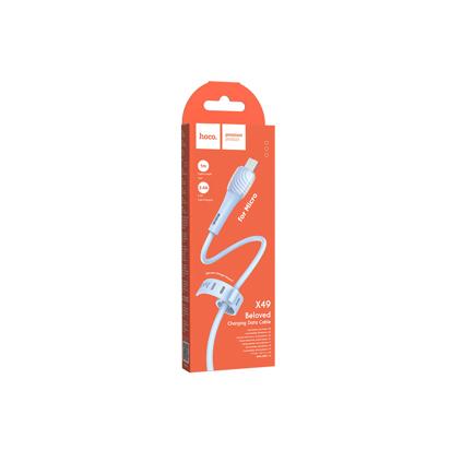 Data kabal Hoco X49 Beloved Micro USB plavi