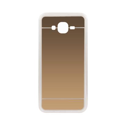 Futrola silikonska Mirror za Samsung J700F Galaxy J7 Zlatna