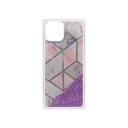 Futrola Geometric Fluid za iPhone 12 / 12 Pro 6.1 inch roza