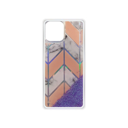 Futrola Geometric Fluid za iPhone 12 Pro Max 6.7 inch ljubicasta