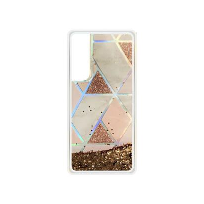 Futrola Geometric Fluid za Huawei P Smart 2021 zlatna