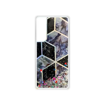 Futrola Geometric Fluid za Huawei P Smart 2021 srebrna