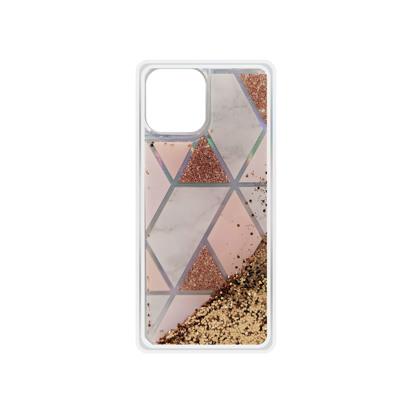 Futrola Geometric Fluid za iPhone 12 Mini 5.4 inch zlatna