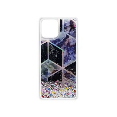 Futrola Geometric Fluid za iPhone 12 Mini 5.4 inch srebrna