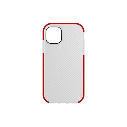 Futrola Carbon Transparent za iPhone 12 Pro Max 6.7 inch crvena