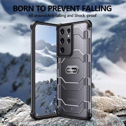 Futrola Wlons Shockproof za Samsung G998B Galaxy S21 Ultra / S30 Ultra crna
