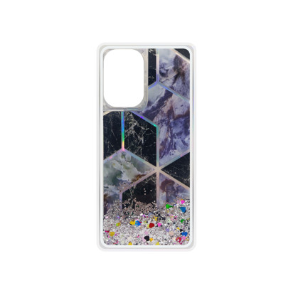 Futrola Geometric Fluid za Samsung Galaxy A726B/A72 5G/A726F/A72 srebrna