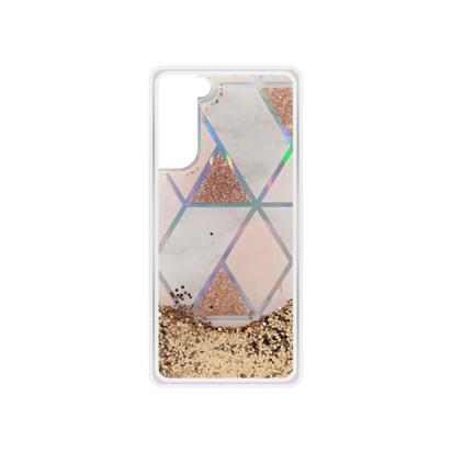 Futrola Geometric Fluid za Samsung G990F Galaxy S21 / S30 zlatna