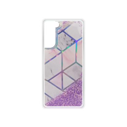 Futrola Geometric Fluid za Samsung G990F Galaxy S21 / S30 roza