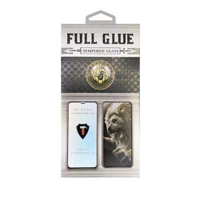 Staklena folija (glass) za Honor Play 5 5G glue over the whole Black