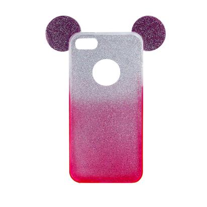 Futrola SHOW YOURSELF EARS za iPhone 6 Plus/6S Plus srebrno-roze
