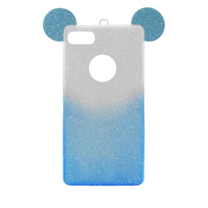 Futrola SHOW YOURSELF EARS za iPhone 7/8/SE 2020 srebrno-plava