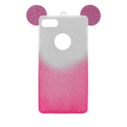 Futrola SHOW YOURSELF EARS za iPhone 7/8/SE 2020  srebrno-roze