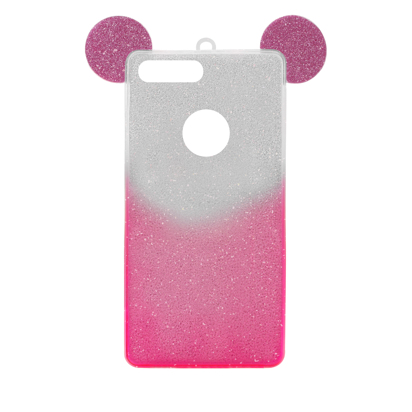 Futrola SHOW YOURSELF EARS za iPhone 7 Plus/8 Plus srebrno-roze