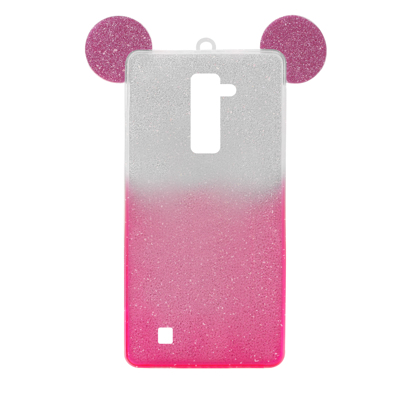 Futrola SHOW YOURSELF EARS za LG K10 srebrno-roze