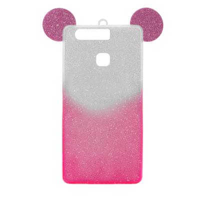 Futrola SHOW YOURSELF EARS za Huawei P9 srebrno-roze