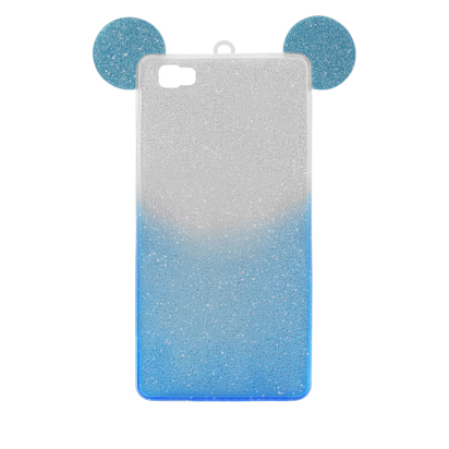 Futrola SHOW YOURSELF EARS za Huawei P8 Lite srebrno-plava