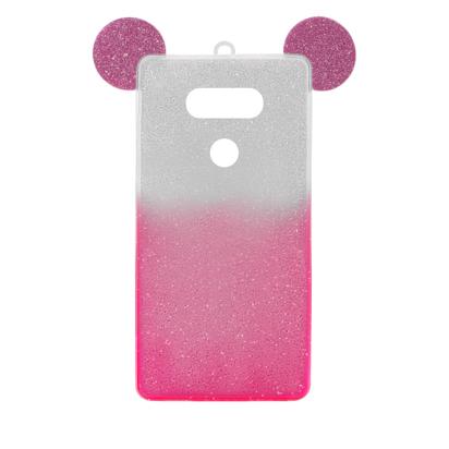 Futrola SHOW YOURSELF EARS za LG G5 H850 srebrno-roze
