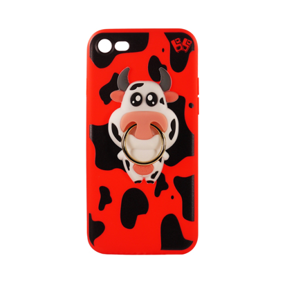 Futrola Gumena COW za iPhone 7/8/SE 2020 crvena